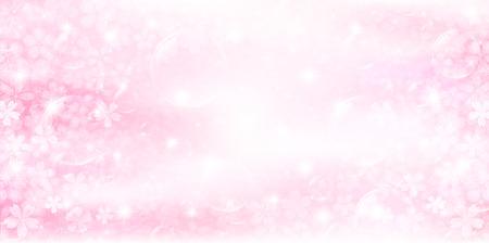 Cherry spring flower background Illustration