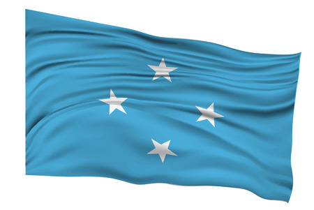 micronesia: Micronesia Flags Country icon Illustration