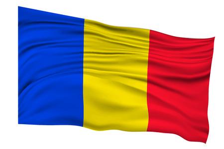 Roumanie Drapeaux Pays icon Banque d'images - 53137711