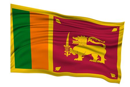 スリランカの旗国のアイコン  イラスト・ベクター素材