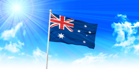 Australia Flag sky background