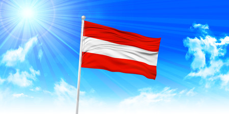 Austria Flag sky background