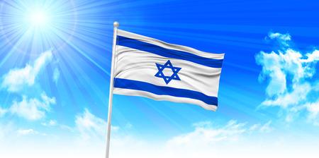 Israel Flag sky background