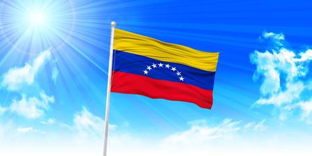 venezuela flag: Bandera de Venezuela el fondo del cielo