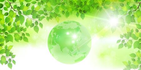 배경 신선한 녹색 지구 배경 일러스트