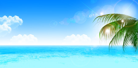 blue sea: Sea summer landscape background