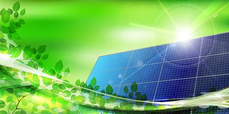 early summer: Solar leaf landscape background