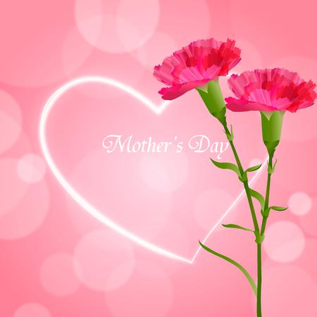어머니의 날 카네이션 꽃 배경