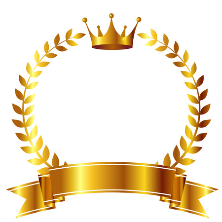 Crown Laurel ribbon icon