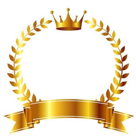 Crown Laurel ribbon icon