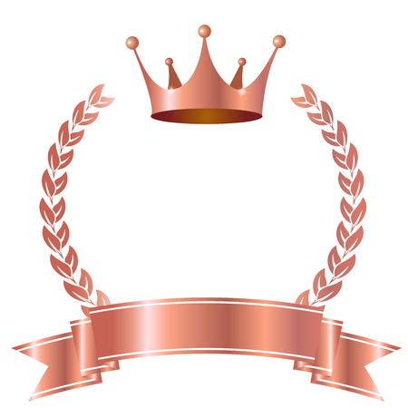 icona nastro corona d'alloro