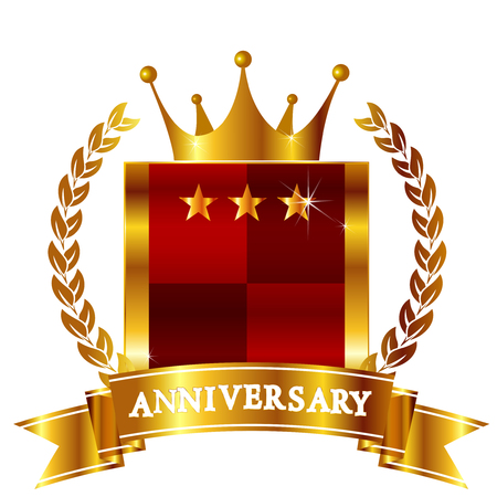 crown of light: Crown Anniversary ribbon icon