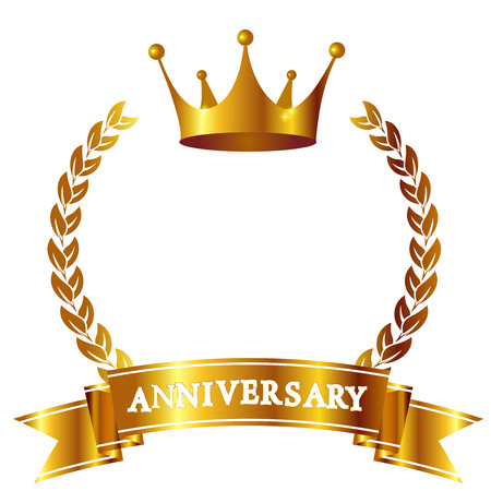 Crown Anniversary ribbon icon