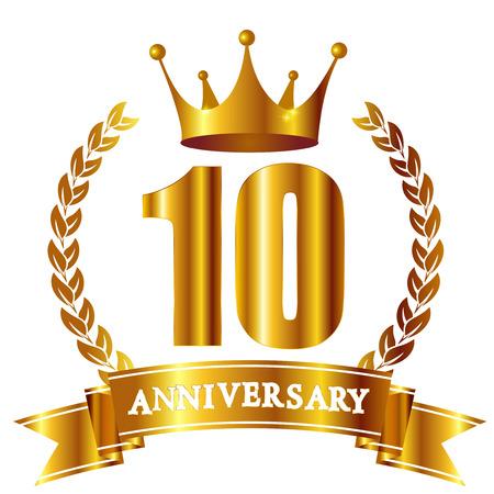 Crown Anniversary ribbon icon