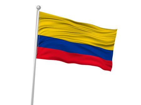 columbia: Columbia National flag Flag icon Illustration