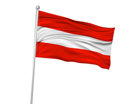 austria: Austria National flag Flag icon Illustration
