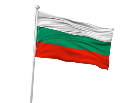 banderas del mundo: Bulgaria icono de la bandera de la bandera nacional Vectores