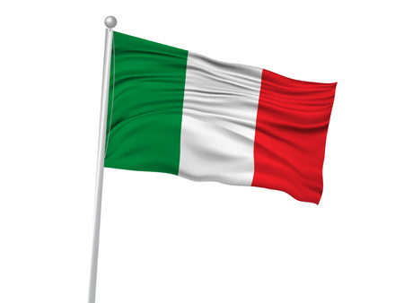 banderas del mundo: Italia icono de la bandera de la bandera nacional Vectores