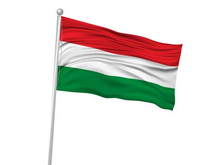 banderas del mundo: Hungría icono de la bandera de la bandera nacional Vectores