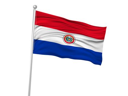 paraguay: Paraguay National flag Flag icon Illustration