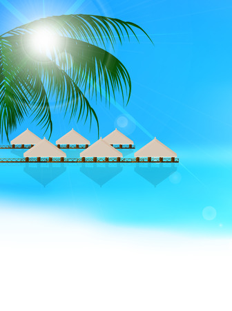 海夏風景の背景
