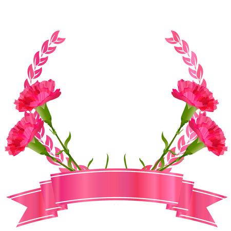 母の日のカーネーションの花アイコン  イラスト・ベクター素材