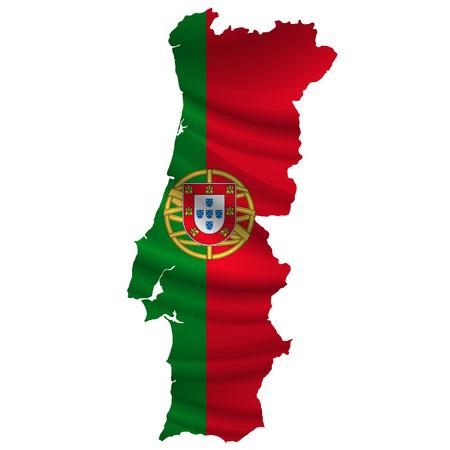 Portugal Flag map icon Vettoriali
