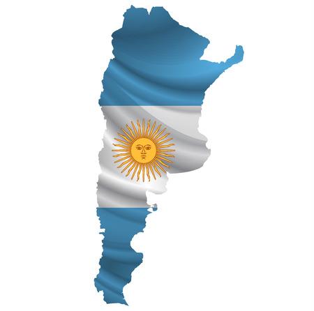아르헨티나 국기지도 아이콘