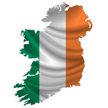 bandera irlanda: icono del mapa de la bandera de Irlanda