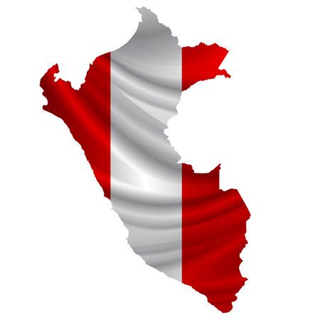 mapa del peru: icono del mapa de la bandera de Per�