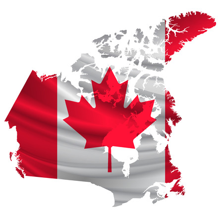 Canada Flag map icon Vettoriali