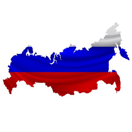 bandera rusia: icono del mapa de la bandera de Rusia Vectores