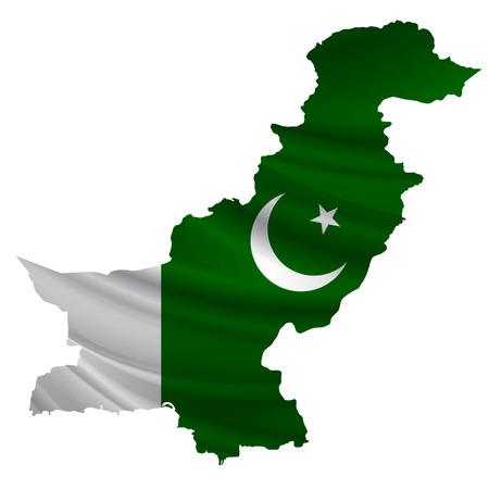 Pakistan: Pakistan Flag map icon Illustration