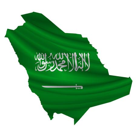 saudi: Saudi Arabia Flag map icon