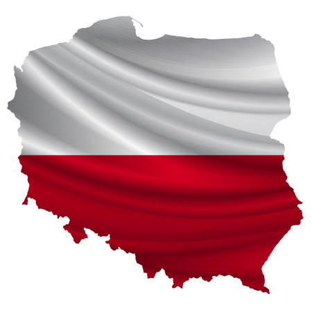 poland flag: Poland Flag map icon Illustration