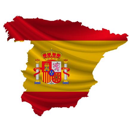 Drapeau de l'Espagne map icon Vecteurs