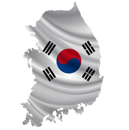 korea flag: Korea Flag map icon