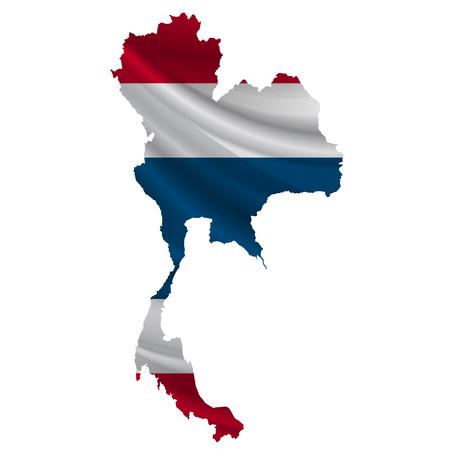 タイの国旗地図アイコン  イラスト・ベクター素材