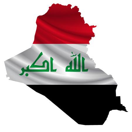 iraq flag: Iraq Flag map icon Illustration