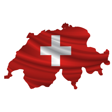 switzerland flag: Switzerland Flag map icon