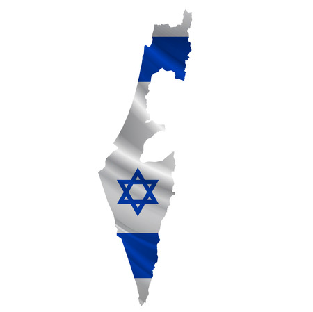 israel flag: Israel Flag map icon Illustration