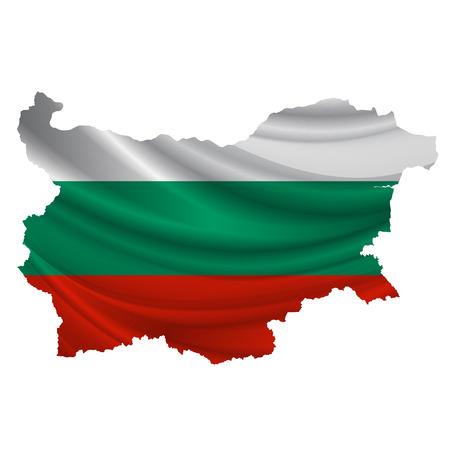 bulgaria: Bulgaria Flag map icon Illustration
