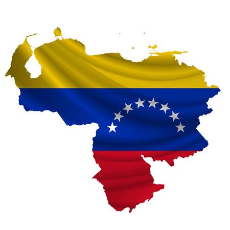bandera de venezuela: icono del mapa de la bandera de Venezuela