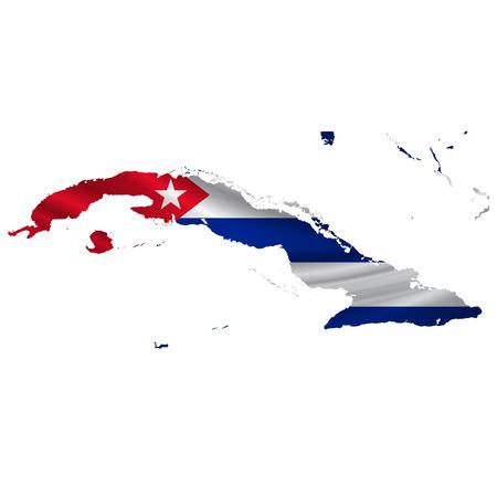 cuba flag: Cuba Flag map icon Illustration
