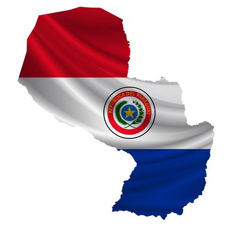 bandera de paraguay: icono del mapa de la bandera de Paraguay