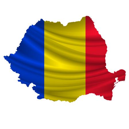 romania flag: Romania Flag map icon