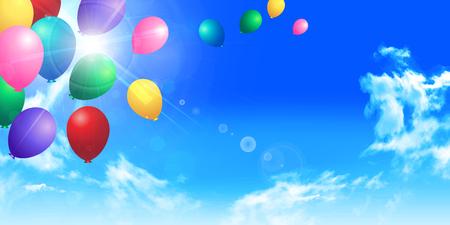 balloon background: Balloon sky landscape background