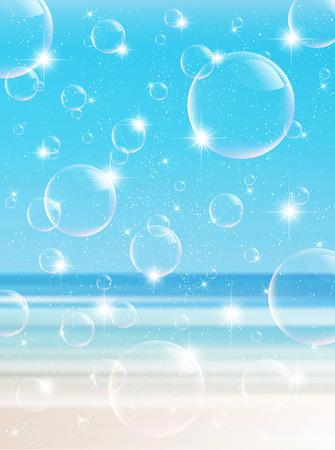 early summer: Sea summer landscape background