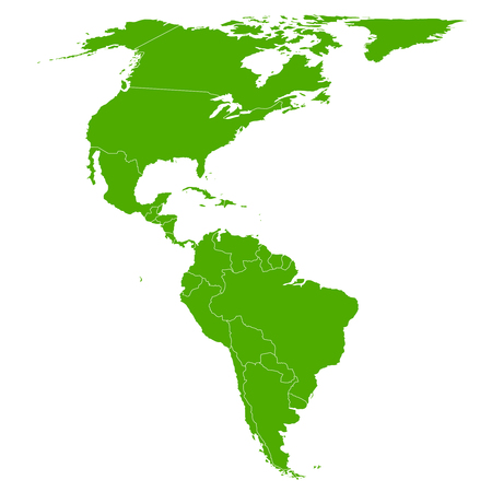 the americas: Americas map icon symbol Illustration
