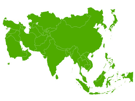 Asia map icon symbol